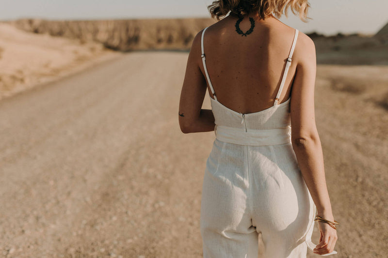 Spring Jumpsuit Moonstone White