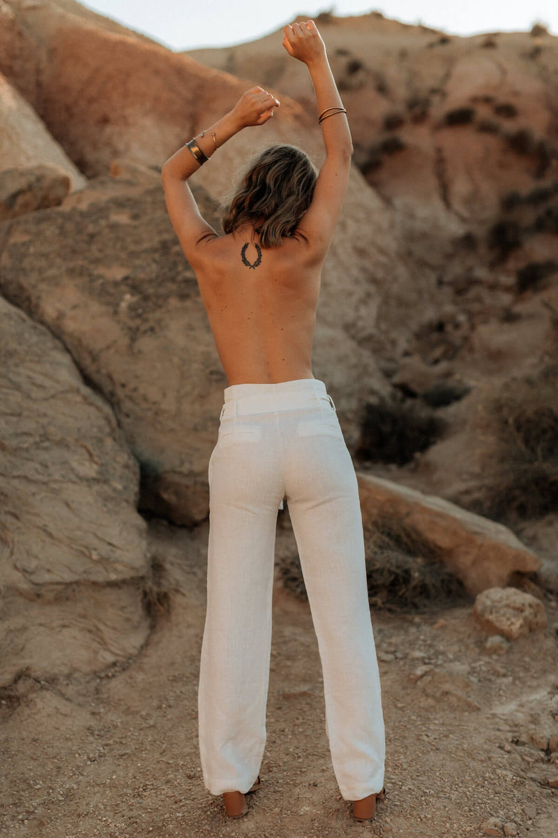 Alexandra pants Moonstone white