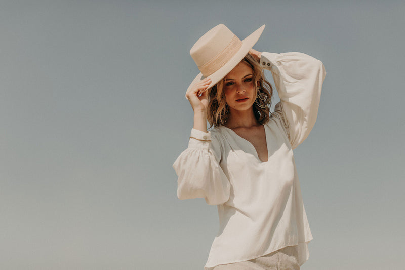 Lune Blouse White Sand
