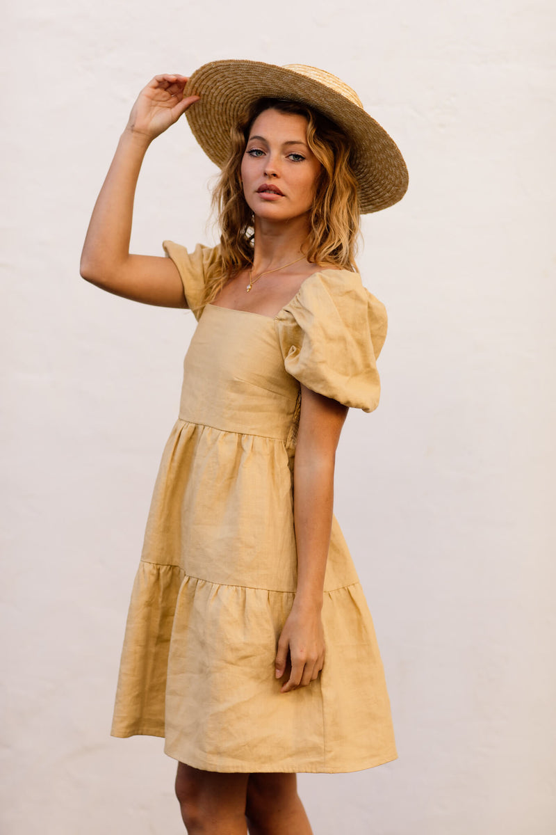 Mia Dress Desert Beige