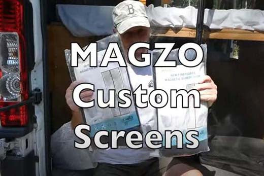 MAGZO Custom Screens for Camper Vans and Houses