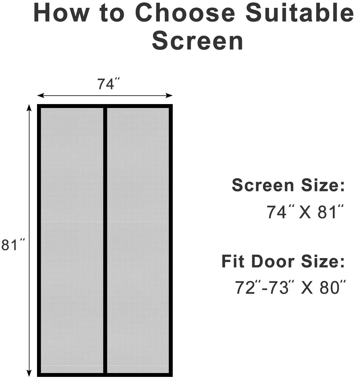 72x80 magnetic screen door