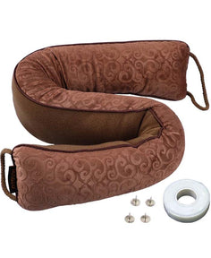 MAGZO Door Pillow Draft Stopper, Weighted Brown Door Draft,Color Brown