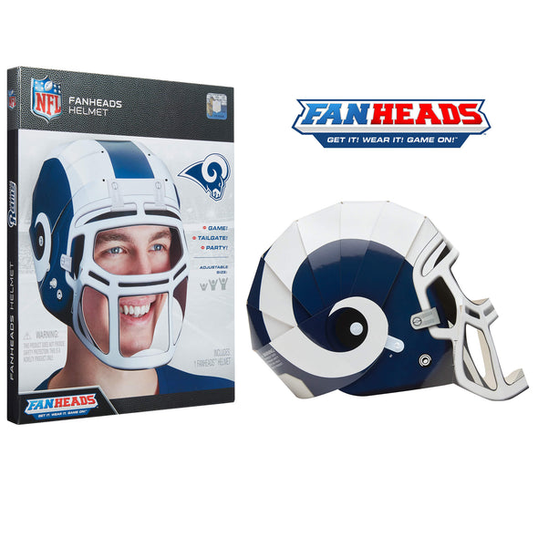 Los Angeles Rams FanHeads helmet packaging