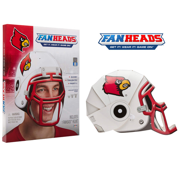 Louisville Cardinals FanHeads packaging