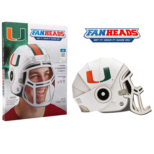 Miami Hurricanes FanHeads packaging