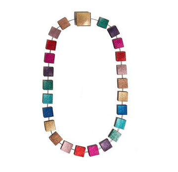 Collar rainbow metallic corto