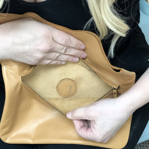 "Jody's ""Connected"" Genuine Fine grain Leather Clutch"