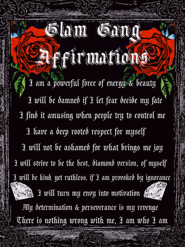 GLAM GANG AFFIRMATIONS POSTER