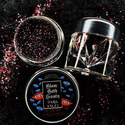 GLAM GOTH BEAUTY DARK ANGEL GLAMPIRE DIAMOND GLITTER