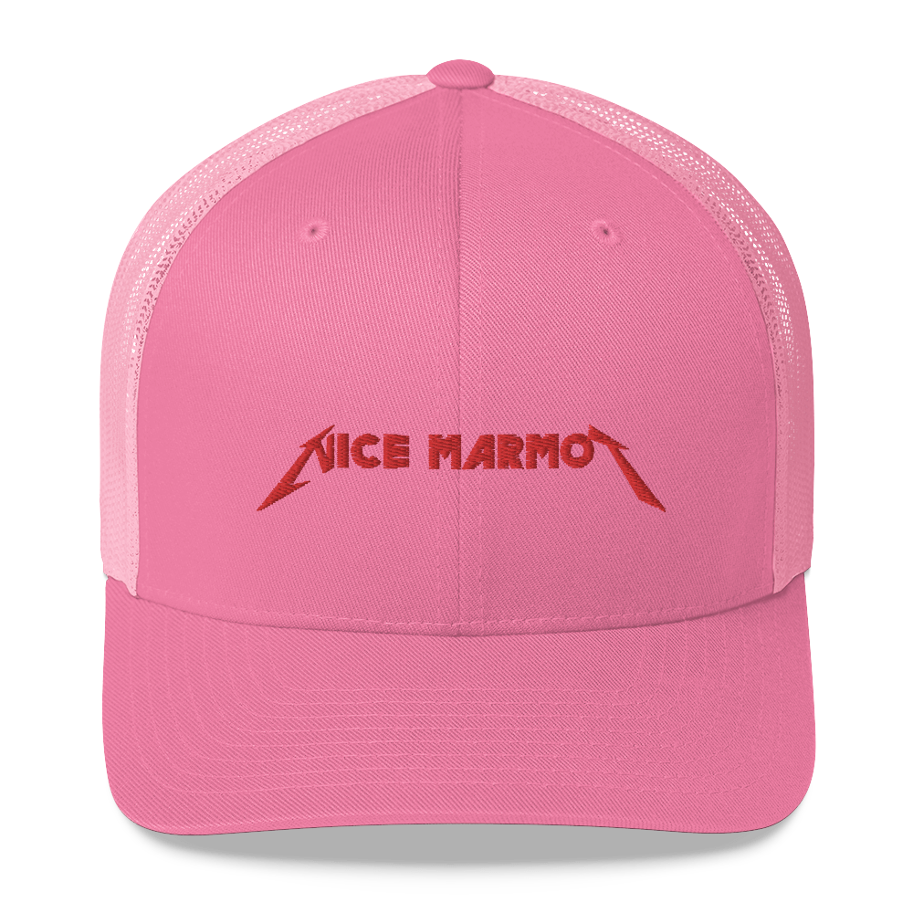 NICE MARMOT 'EM ALL trucker hat
