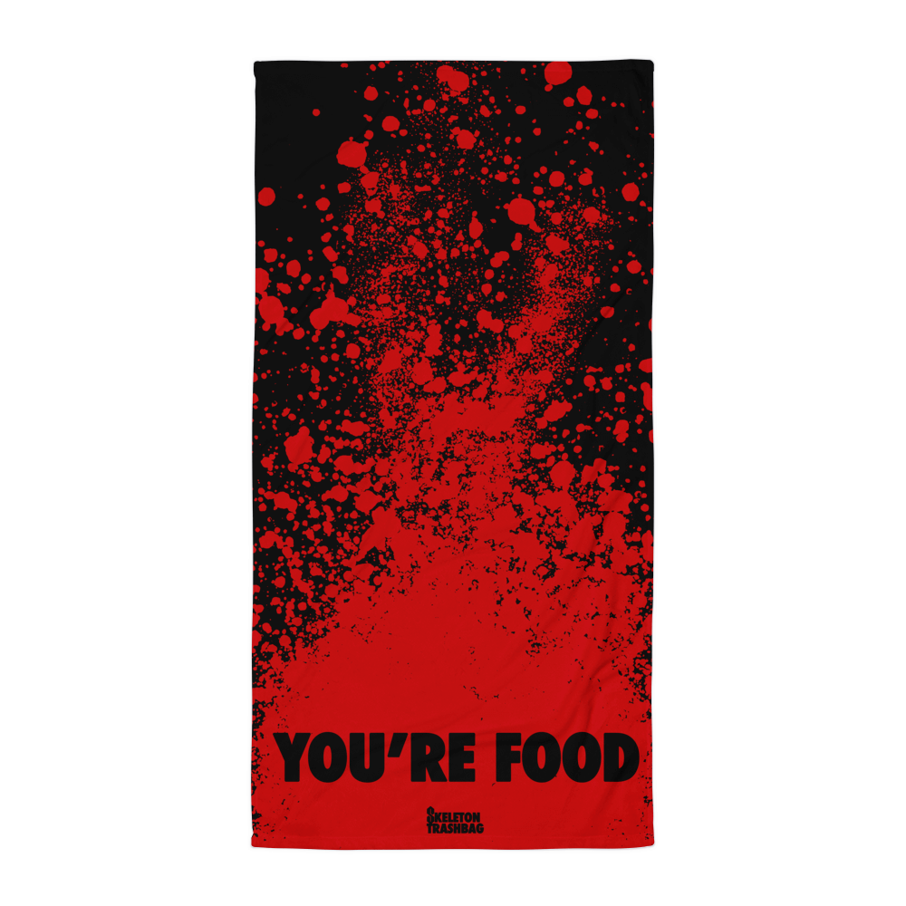 BLOOD ON THE BEACH towel