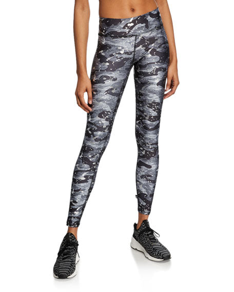 Terez-Printed Camo Legging With Silver Splatter