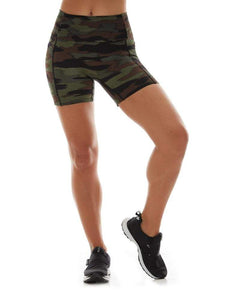 "K-Deer 5"" Peace Out Pocket Biker Short - Camo"