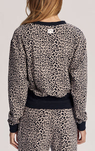 Varley Arden Sweat - Leopard All Over