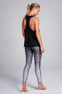 Terez Glitter Tall Band Legging - Black and White