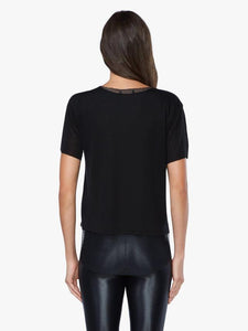Koral Double Layer Mesh Short Sleeve Tee - Black