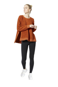 Vimmia Verge Reversible Slit Side Pullover Top - Cinnamon