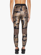 Load image into Gallery viewer, Koral Infinity High Rise Cropped Legging - Camo with Black