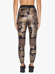 Koral Infinity High Rise Cropped Legging - Camo with Black
