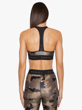 Load image into Gallery viewer, Koral Emblem Versatility Bra - Camo with Black