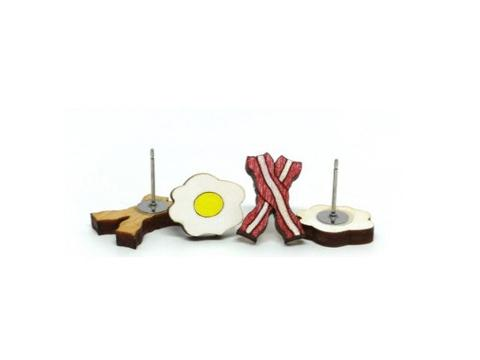 [un]possible cuts earrings - Bacon & Egg