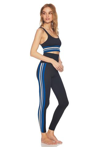 Beach Riot Jade Legging- Blue and White Stripe