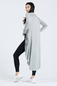 Joah Brown Soleil Cardigan Onesize - Salt and Pepper Hacci