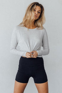 Joah Brown Alpha Longsleeve - Gray Pearl Rib