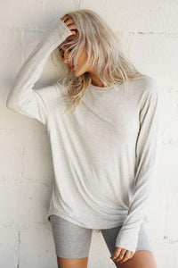 Joah Brown Avenue Long Sleeve - Pearl Grey
