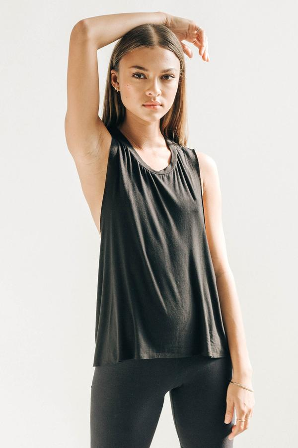 Joah Brown Exhale Tank - Pearl Grey