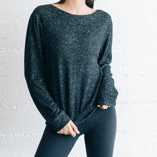 Load image into Gallery viewer, Joah Brown Get It Pullover- Black Marble