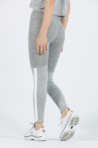 Joah Brown Stripe Lux Legging - Salt & Pepper