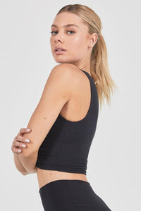 Joah Brown Marathon Crop Top - Sueded Onyx