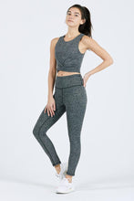 Load image into Gallery viewer, Joah Brown Second Skin Legging - Herringbone Black