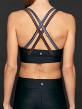 Load image into Gallery viewer, Lanston Sport Jaron Strap Bra - Metal
