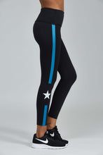 Load image into Gallery viewer, Noli Yoga Jet Legging - Black with blue stripe