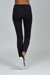 Noli Yoga Jet Legging - Black with blue stripe