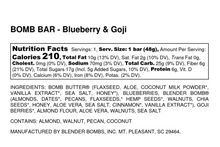 Load image into Gallery viewer, Blender Bombs Bomb Bars- Blueberry & Goji (Entire Box)