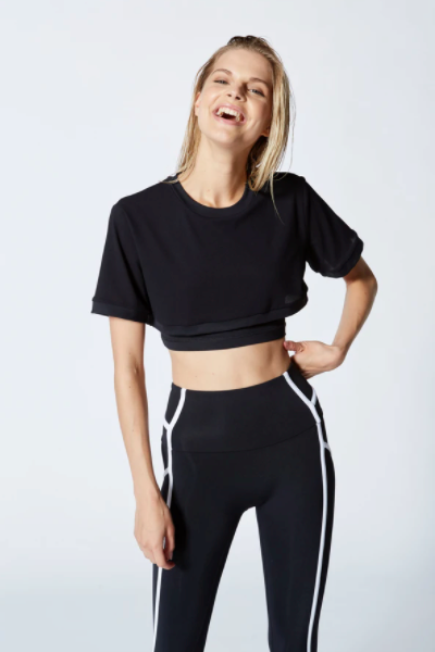 Vimmia Triton Double Crop Top-Black