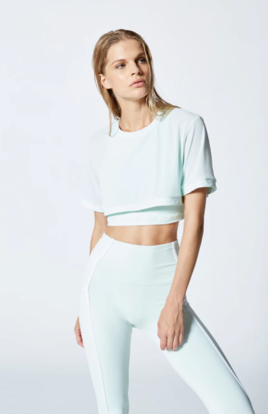 Vimmia Triton Double Crop Top-Seaglass