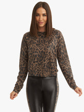 Load image into Gallery viewer, Koral Sofia Netz Pullover-Leopard