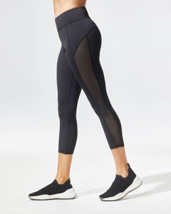 MICHI Stardust Crop Legging - Black