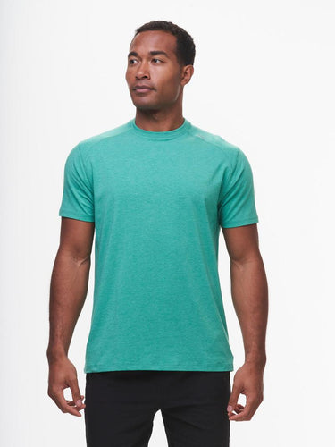 Tasc Carrollton T-Shirt- Palm Green Heather