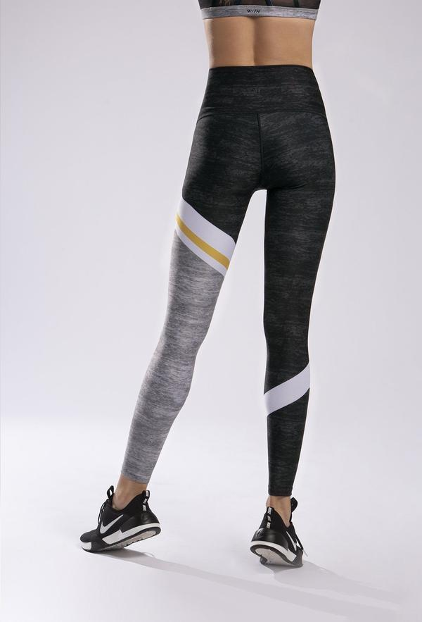 WITH High Waisted Legging Good Vibes - Yellow Pop