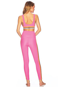 Beach Riot Clementine Top- Ribbed Hot Pink