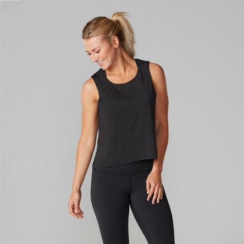 Tavi Noir High-Low Tank - Charcoal Grey