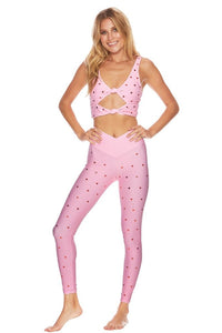 Beach Riot Pink Hearts Leggings