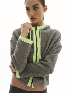 Lanston Sport Pursuit Neon Blocked Hoodie - Smoke