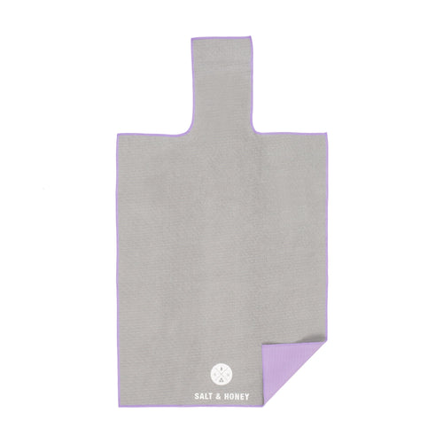 Salt & Honey Pilates Reformer Towel - Grey/Purple